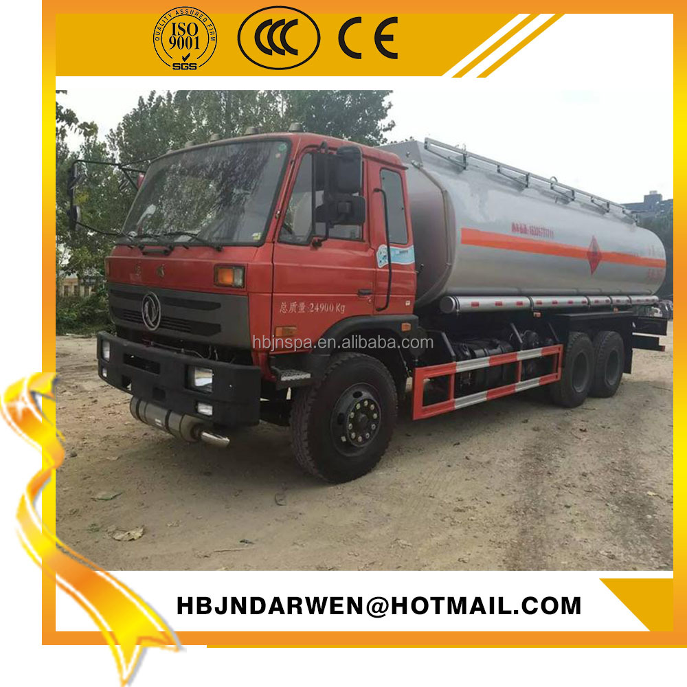 6*4 Dongfeng 21cbm fuel tanker truck capacity