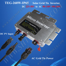 Hot sale grid tie pure sine wave 260w mini inverter price dc to ac