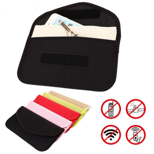 RFID- Signal Blocking Electromagnetic Shielding Bag Wallet Credit Card Case For Cell Phone Protection
