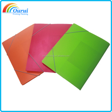 Custom logo A4 PP file folders with elastic straps