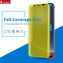 Top quality 3d curved full cover tpu screen protector for Samsung galaxy S8 S8 Plus film for mobile phone