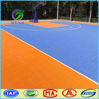 outdoor portable basketball court pp flooring