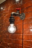 6.27-14 Wall Light Industrial Steampunk Sconce Steampunk light Industrial Vanity Bar