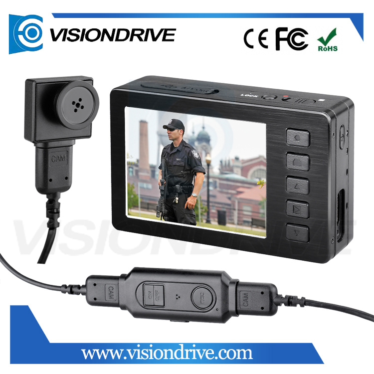 VD5000II+501 1080P FHD 2.7 inches Portable Hidden Security Shirt Button Police Body Worn Camera for Law Enforcement