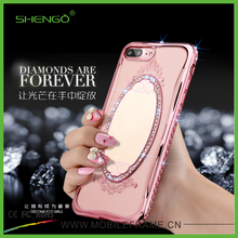 Wholesale Cheap Luxury TPU Mirror Phone Case Rose Gold Custom Silicone Mobile Cases for iPhone 6 Plus