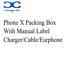 US/EU/UK Version Phone Package Packing Box Case For iPhone X Box With Accessories Earphone USB Cable And Charger