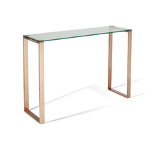 Shengfang hobby lobby glass modern gold console table