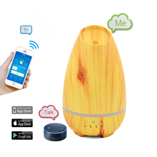 Ultrasonic Wood Grain Air Humidifier, Mist Maker Fogger, Essential Oil Diffuser Aroma Humidifier