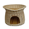 custom wicker pet carrier woven dog bed cage