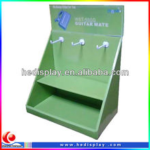 Beauty products corrugated carton counter display with hooks