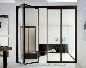 aluminum frame glass folding door for balcony