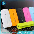 Rechargeable travel USB charger portable power bank 5200mah