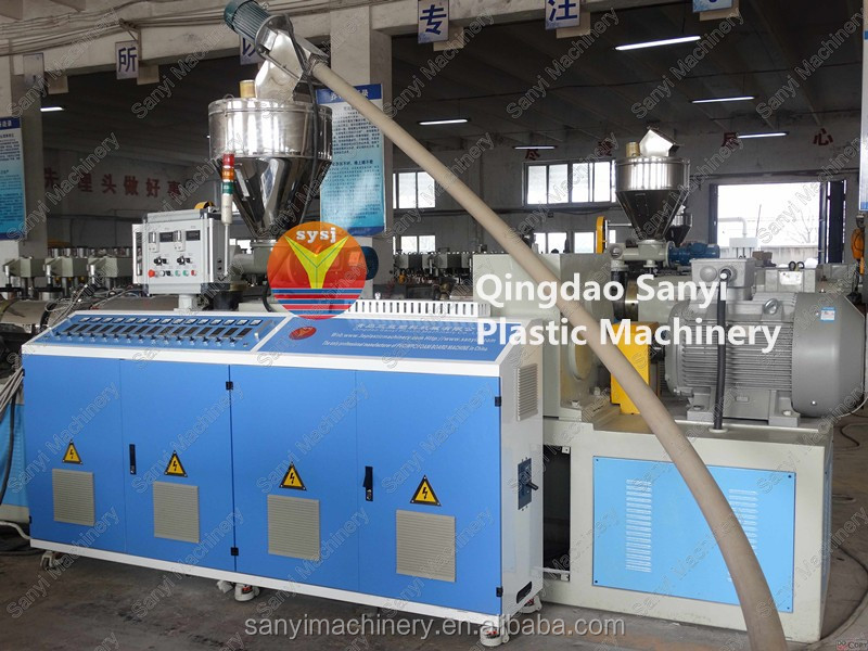 Waterpoof PVC Crust Foam Board Extrusion Line , WPC Plate Machine