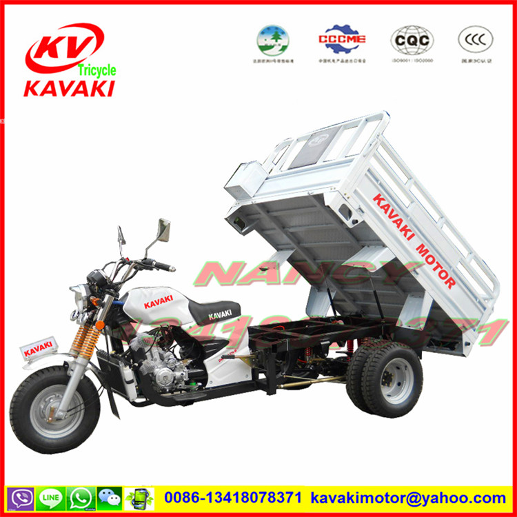 Zongshen engine dump three-wheeled motorcycle truck farm three-wheeled motorcycle fuel five wheels