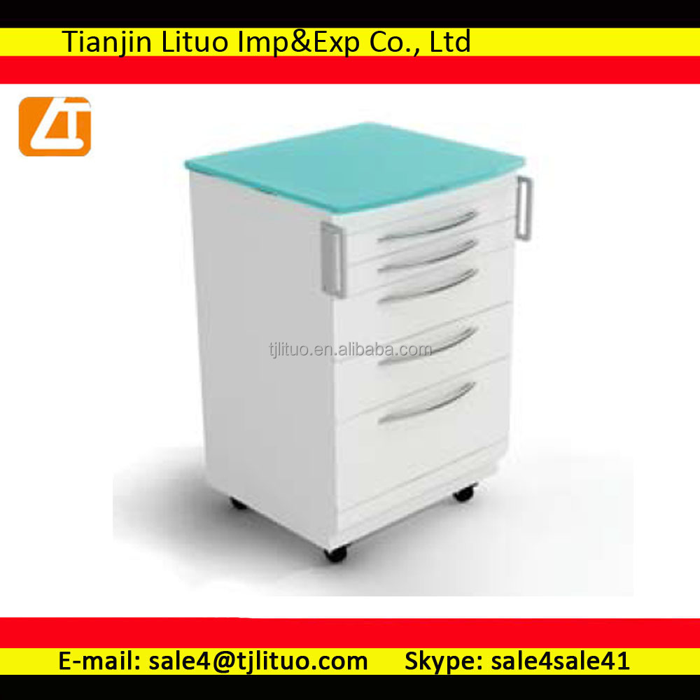 Hot sale dental cabinet/hospital mobile cabinet with medical trays