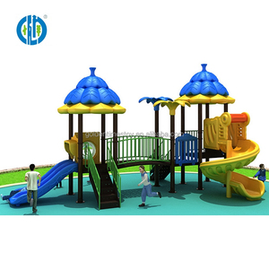 New product commercial children sports outdoor playground with spiral slide