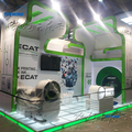 Standard portable trade show exhibit stand with banners design in Shanghai
