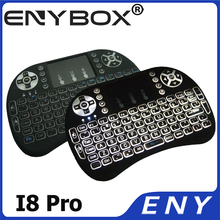 I8 Backlit 2.4G Wireless Mini Keyboard Touchpad with USB Receiver