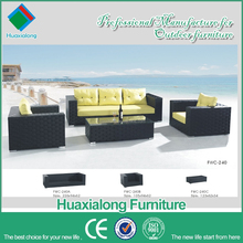 Foshan accents lounge suite garden set living room and outdoor furniture rattan sofa FWC-240-D
