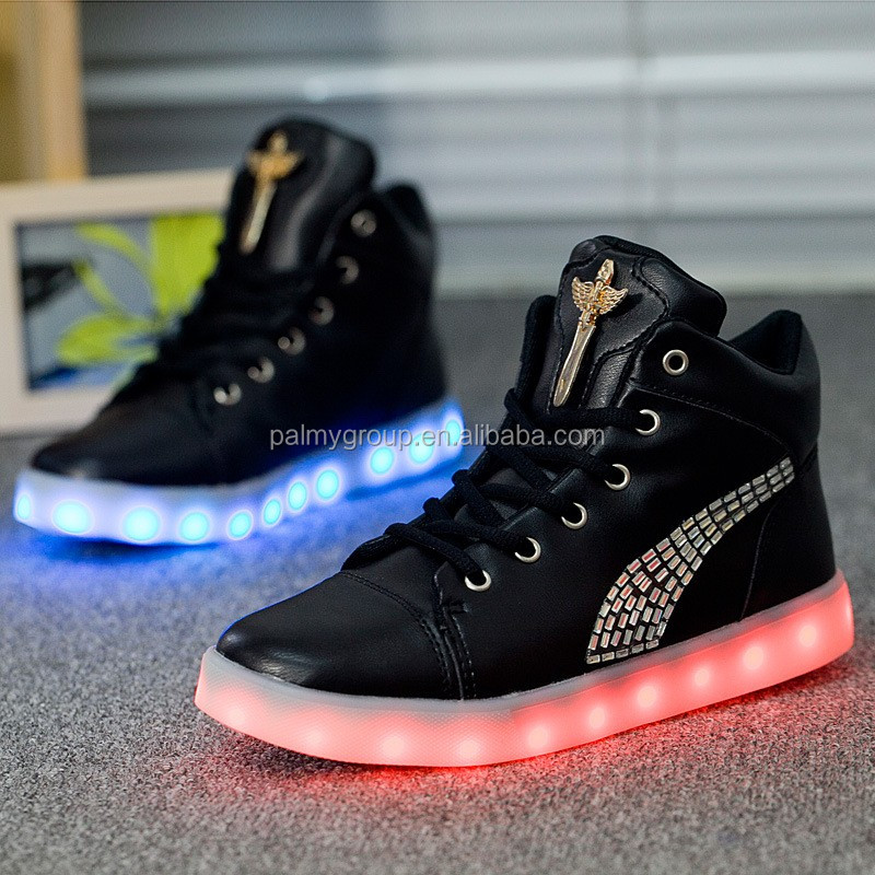 Cool design winter men and women casual shoes led flashing shoes adult