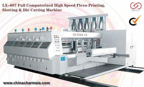 GIGA LX 607/8 Carton Machine Making Different Shape and Size Box carton slitter scorer machine