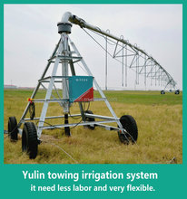 Towing Center Pivot Agricultural Sprinkler Irrigation with High Quality for Three Wheel
