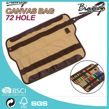 Professional 72 pencils Canvas Bag Roll Pencil Case pecils hollder For 72 Pens Hole Storage Pouch Sketch Drawing