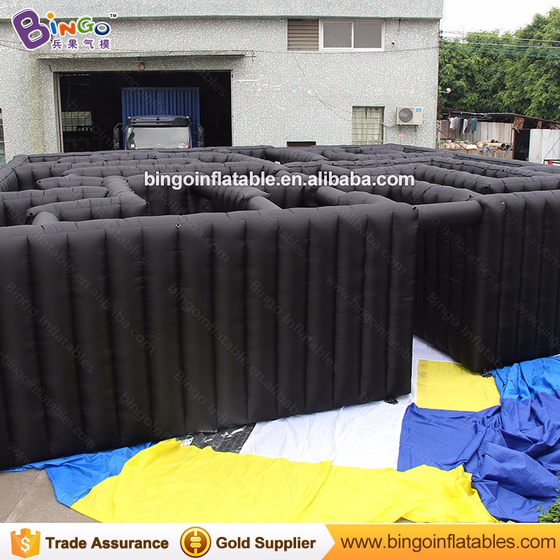 Safety bounce Dark air inflatable maze inflatable laser tag arena