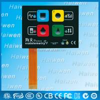 plastic membrane keypad with led
