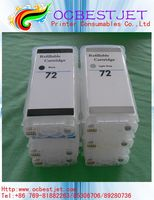Hot For HP 72 Refillable Ink Cartridge for HP T610/620/770/1100/1120/1200