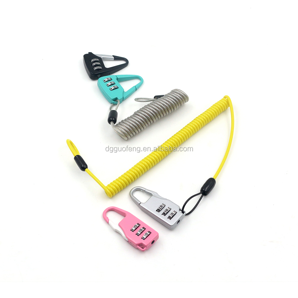 spring coil lanyard code digital lock for gym locker