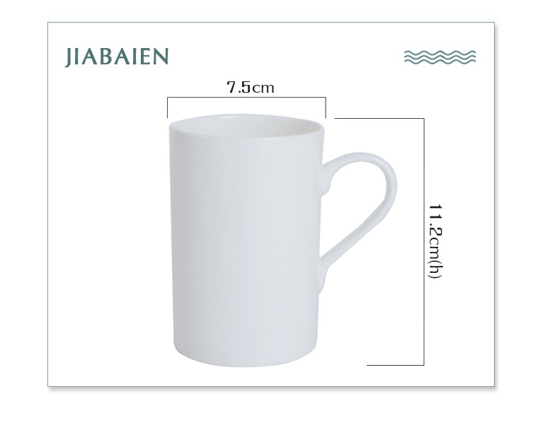 Fancy porcelain ceramic white travel price to decorate white mug cups for coffee