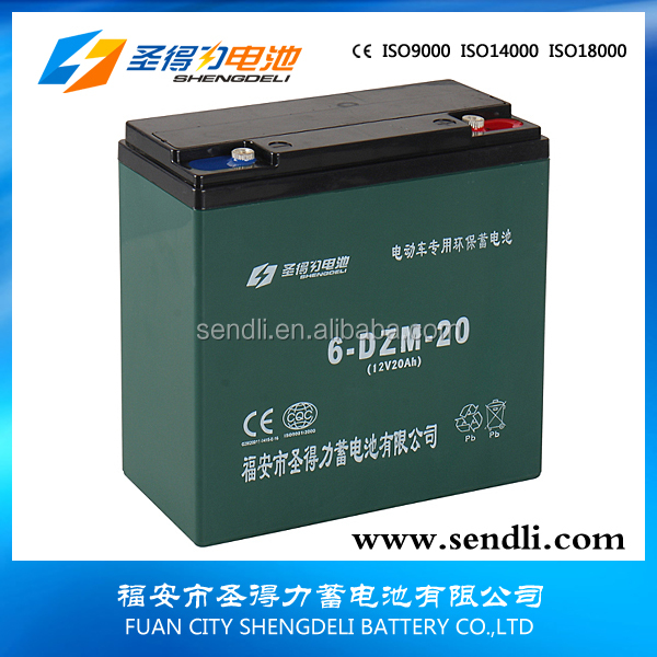 6-DZM-20 Lead Acid Battery 12V 20AH Electric BikeBattery Cheap electronics motorbike electric bike batteries 36v