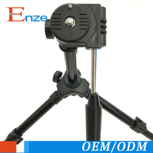 Black portable mobile phone tripod with 3 legs