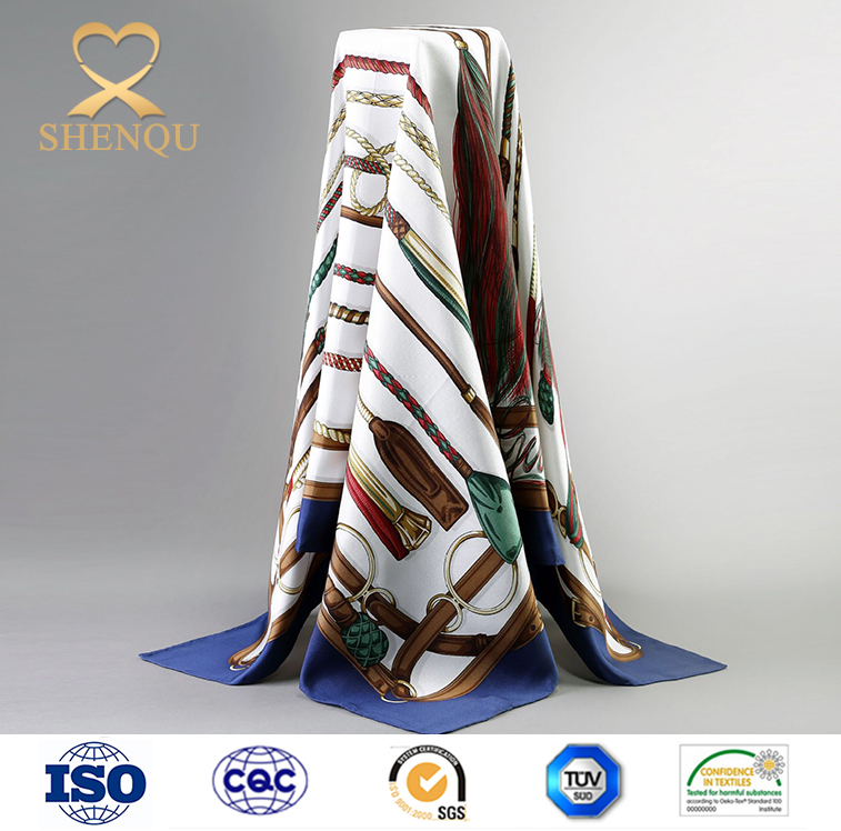 90*90cm twill silk <strong>scarf</strong> high quality digital print custom design silk <strong>scarf</strong>
