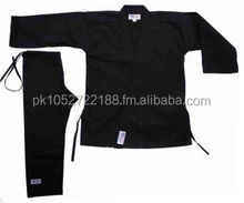 Karate Black Canvas Uniform 16oz Kata Gi