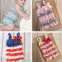 monroo hot sale fashion summer baby girls romper old fashion pajamas