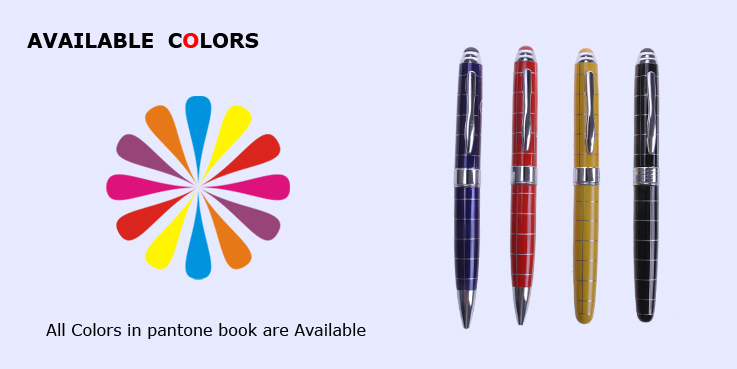 2014 Best Selling Promotional multicoloured Metal Ball Roller Pen Set
