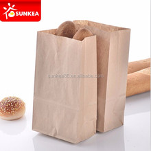 Take away fast food grade brown paper bag for food with clear window