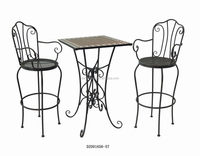 Cheap Outdoor Metal Bar Table And Chairs Set With Good Price