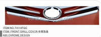 FRONT GRILL COVER CHROMED FOR TOYOTA VIOS 2014 - BEST SELLING CAR ACCESSORIES