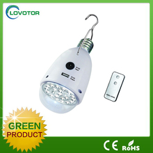Solar energy lamp with hook LED pendant light for outdoor Solar power hand light with remote control