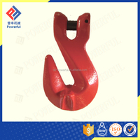 G80 CLEVIS PAINTED RED U.S. TYPE LIFTING HOOK WITH WINGS