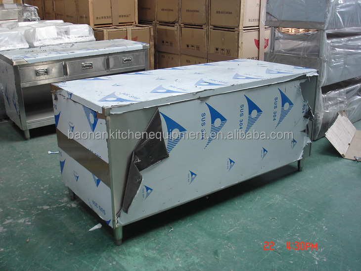 Hotel Products Wholesale Equipment and Supplies Stainless Steel 2 Doors Sliding Kitchen Cabinet