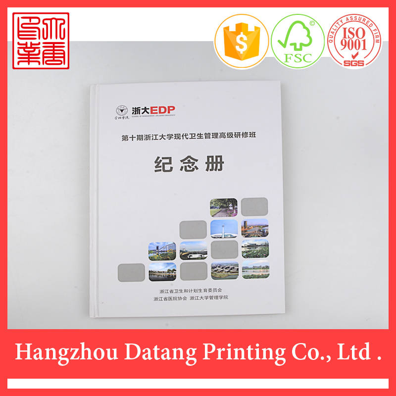 Custom perfect binding cheap hardcover book printing