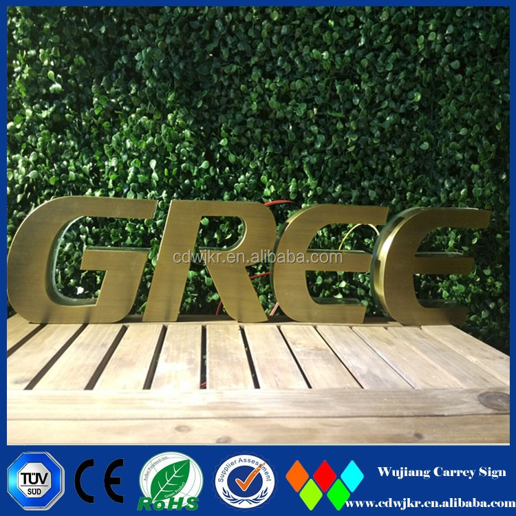 Electronic illuminated signs building signage 3d letters led