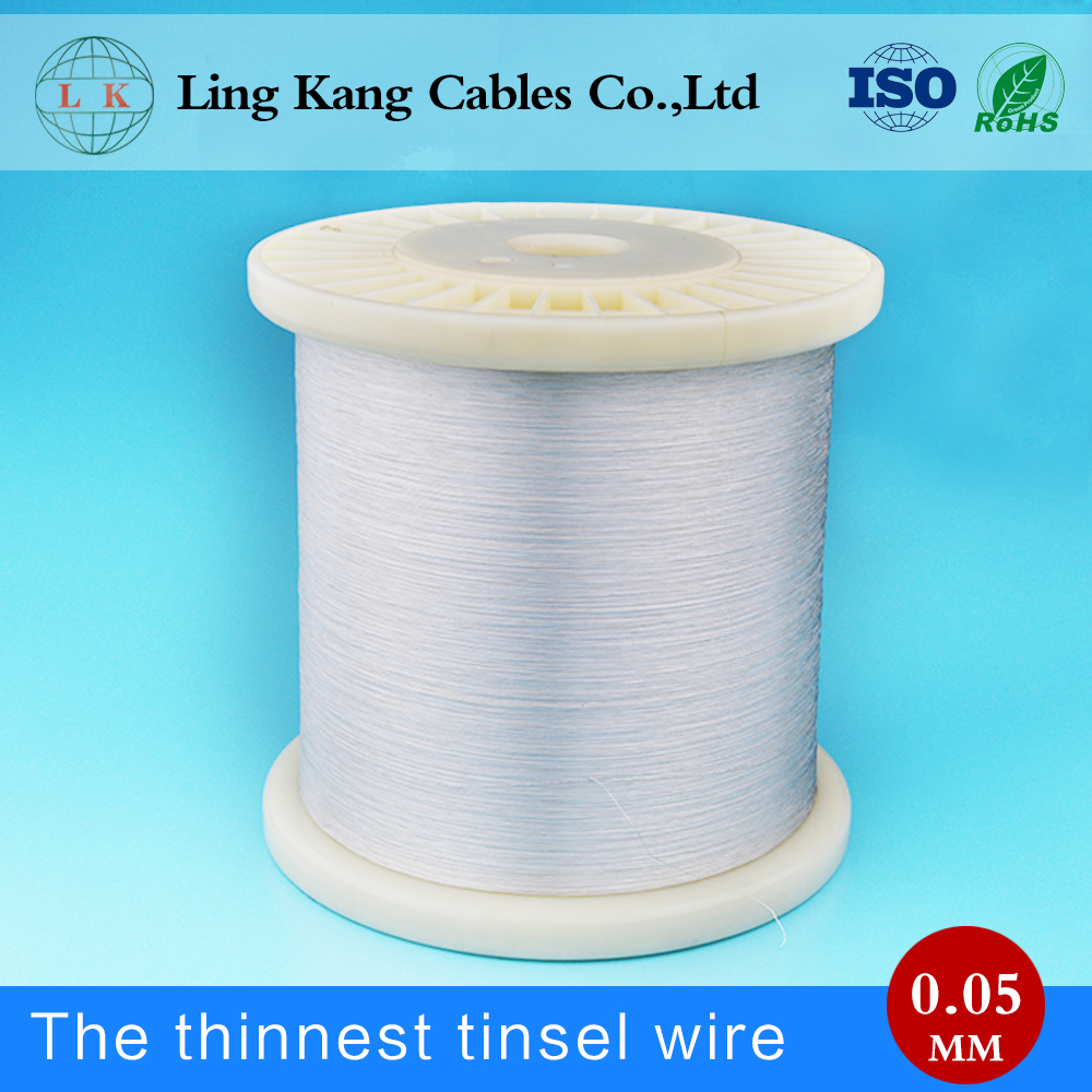 High frequency Swing 0.05mm silver plated copper wire manufacturer, silver plated copper flat wire
