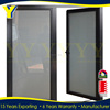 China wholesale aluminum door price frosted glass interior cheap french doors