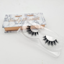 3D Mink False Eyelashes with Marble Design Private Label Lashes Packaging Boxes