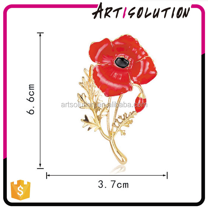 Hot Selling Unisex Crystal Gold Plated Flower Brooch Pin